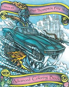 Edition #08 - The Dragon Car Coloring Book - Front