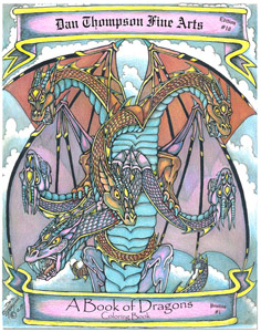 Edition #10 - A Book of Dragons Coloring Book - Front
